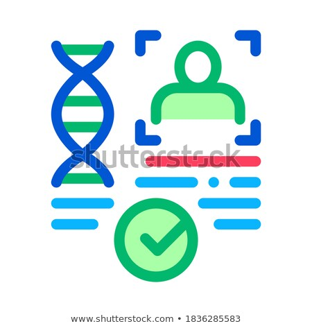 Bevestiging dna bestand icon schets illustratie Stockfoto © pikepicture