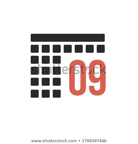 Mese calendario organizzatore icona stock isolato Foto d'archivio © kyryloff