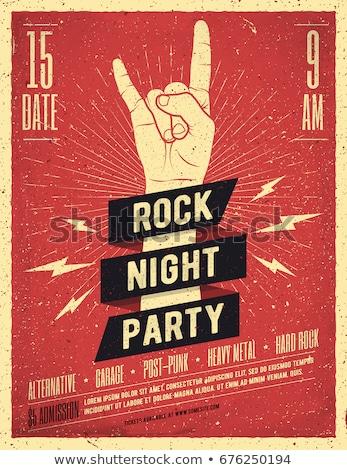 Rock rotolare concerto stile retrò poster modello Foto d'archivio © barsrsind