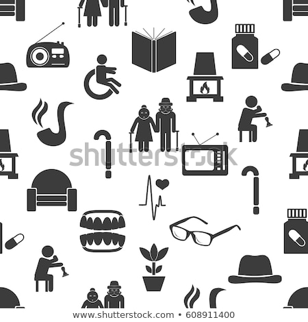 Pension Retirement Seamless Pattern Vector Stock photo © pikepicture
