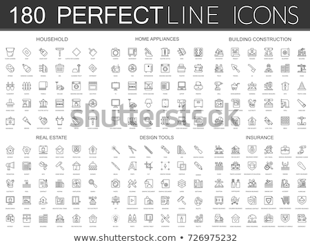 Crane and lifing machines icon set Stock photo © ayaxmr