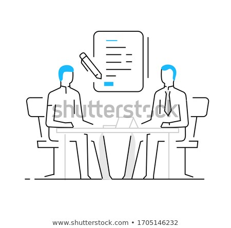 negotiation table interest and money icon vector illustration Stock photo © pikepicture