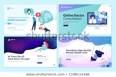 Online Medical Service Landing Web Page Template Stock photo © robuart