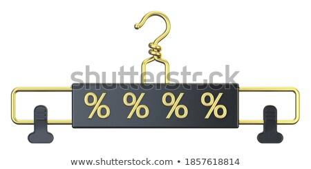 Black cloth hanger with PERCENT text 3D Stock photo © djmilic