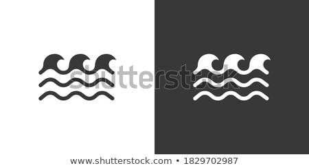Low waves on the sea. Icon. Weather glyph vector illustration Stock photo © Imaagio