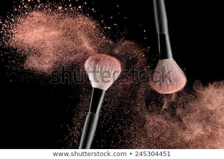Make-up brush and crushed face powder Stock photo © goir