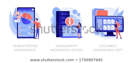 Mobile expense management abstract concept vector illustration. Stock photo © RAStudio