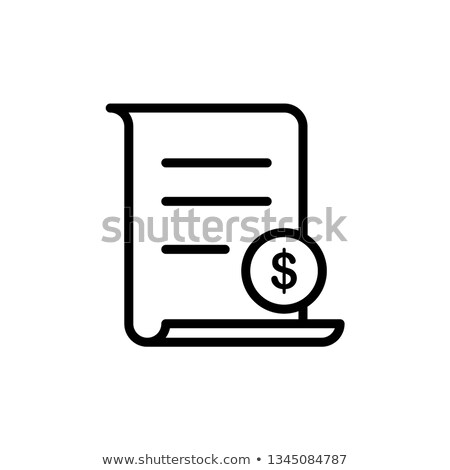Papier belasting app interface sjabloon inkomen Stockfoto © RAStudio