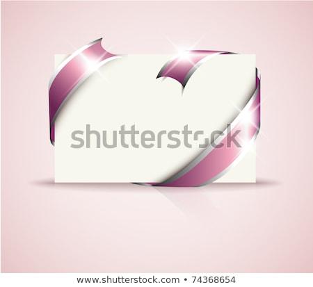 geschenk · tag · geïsoleerd · witte · papier - stockfoto © orson