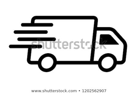 ingyenes · szállítás · bélyeg · terv · teherautó · felirat · nyomtatott - stock fotó © vectomart