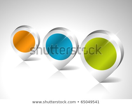 set of round 3d pointers with place for your content stock photo © orson