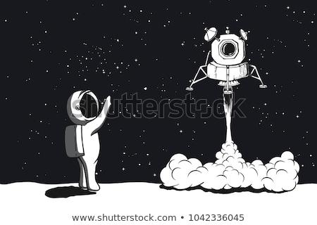Foguete nave espacial lua ilustração Foto stock © fenton