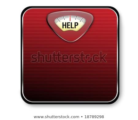 böjt · szó · diéta · hóbort · mérleg · túlsúlyos - stock fotó © magraphics