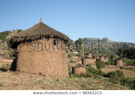 traditional african homes in lallibela ethiopia Stock photo © travelphotography