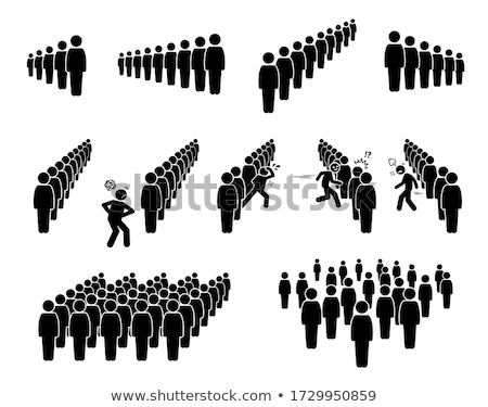 People standing in a queue Stock photo © joyr