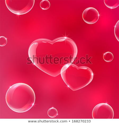 Glassy bubble hearts Stock photo © orson