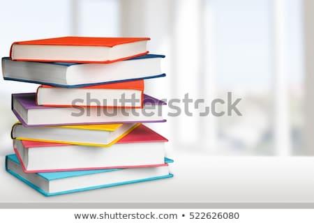 желтый · школы · книга · пер · Eraser · яблоко - Сток-фото © stockfrank
