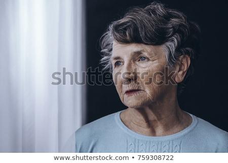 anziani · depresso · senior · donna · casa · di · cura · sentimento - foto d'archivio © elenaphoto