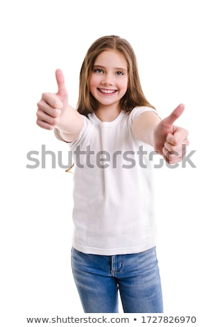 Two thumbs up on a white background. stock photo © Stephen ...