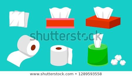 papírzsebkendő · doboz · izolált · fehér · fürdőszoba · textil - stock fotó © blamb