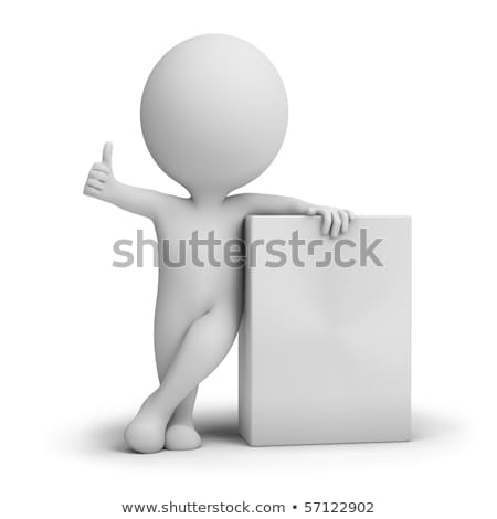 3d small people   empty product box stock photo © anatolym