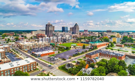 North Carolina cartoon skyline silhouet stad USA Stockfoto © blamb