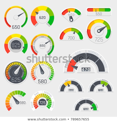 Vecteur indicateur de vitesse isolé blanche web design musique Photo stock © X-etra