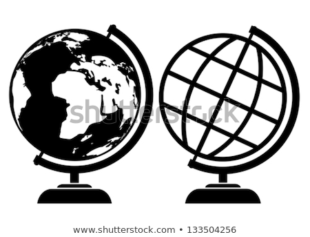 Globe World map with AIDS icons Stock photo © cienpies