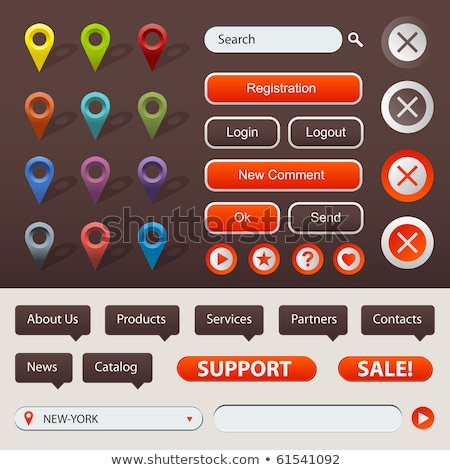 Collection Of Website And GPS Navigation Elements Stock photo © adamson