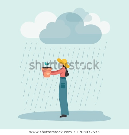 Girl under Rain stock photo © PetrMalyshev