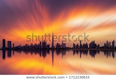 Dubai belváros éjszaka éjszakai jelenet város fények üzlet Stock fotó © Anna_Om