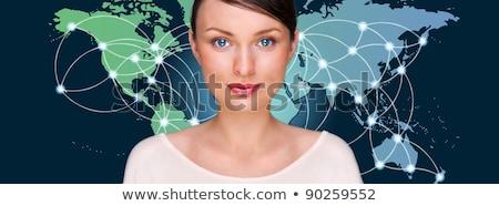 futurista · interfaz · azul · compuesto · digital · luz · tecnología - foto stock © hasloo