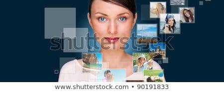 ストックフォト: 肖像 · 小さな · 幸せ · 女性 · 写真