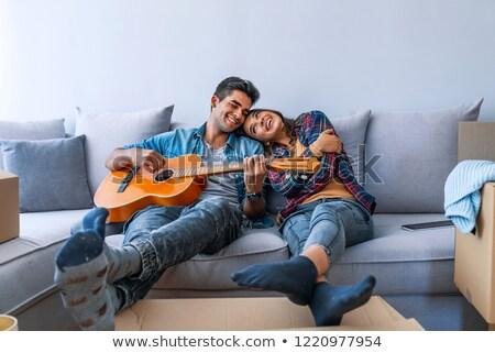 sesión · sofá · primer · plano · retrato - foto stock © hasloo