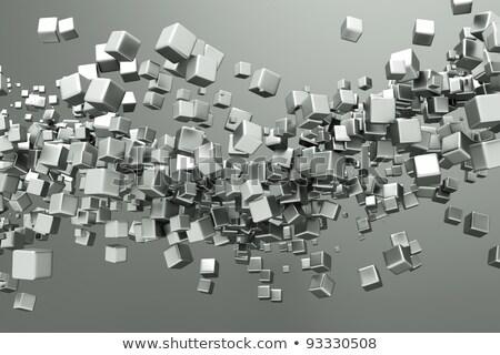 Szövegbuborékok titán illusztráció fém keret ipari Stock fotó © smeagorl