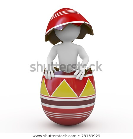 man inside a huge easter egg stock photo © texelart