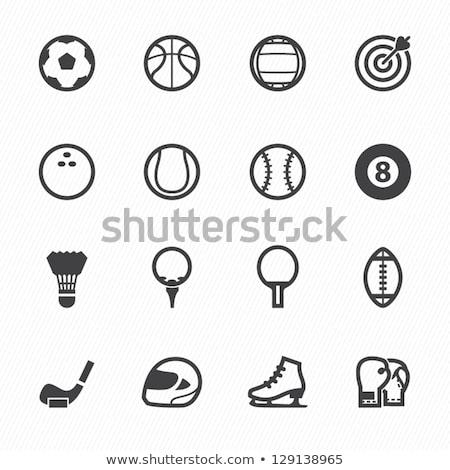 basquetebol · futebol · computador · branco · parede · esportes - foto stock © ozaiachin