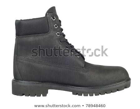 single black boot isolated over white background stock photo © ozaiachin