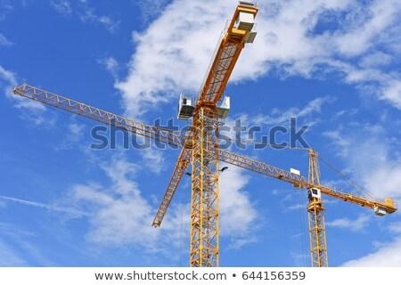 крана бизнеса облака здании фон металл Сток-фото © Pruser