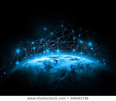 ストックフォト: ウェブサイト · 青 · バーチャル · スペース · インターネット · コンピュータ