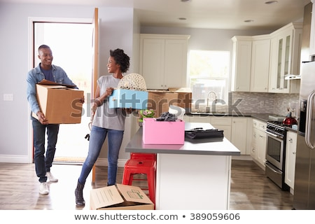 Excited couple on moving day Stock photo © photography33