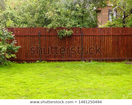 wooden fence and green grass stock photo © smithore