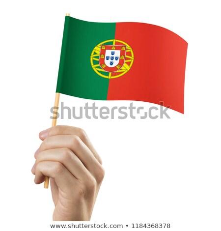 Minyatür bayrak Portekiz yalıtılmış Stok fotoğraf © bosphorus
