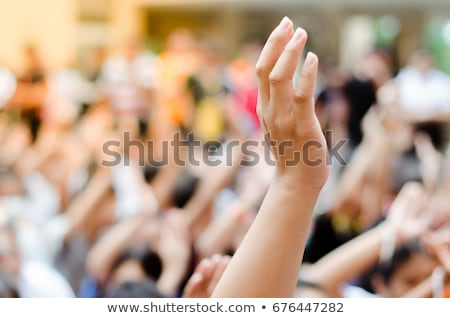 kezek · együtt · végtelen · minta · boldog · pálma · csapat - stock fotó © hermione
