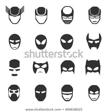 Denevér férfi arc vektor kreatív terv Stock fotó © indiwarm