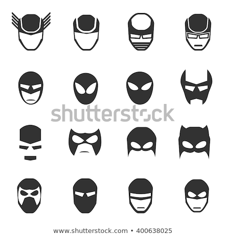 bat on man face vector stock photo © indiwarm
