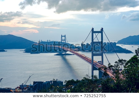 Tsing Ma Bridge and highway scene Stock photo © kawing921