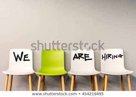 carrera · anuncio · falso · periódico · Trabajo - foto stock © devon