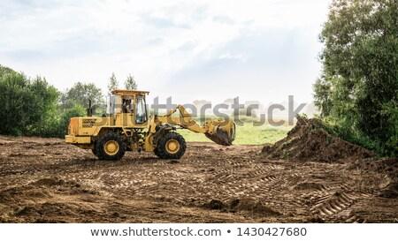 гидравлический · лопатой · бумаги · хаос · строительство · работу - Сток-фото © backyardproductions