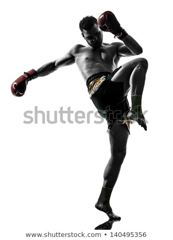Giovani uomo boxer nero guantoni da boxe Foto d'archivio © vlad_star